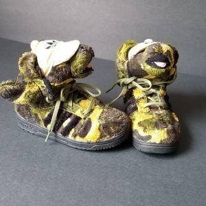 Adidas Jeremy Scott camo bear shoes